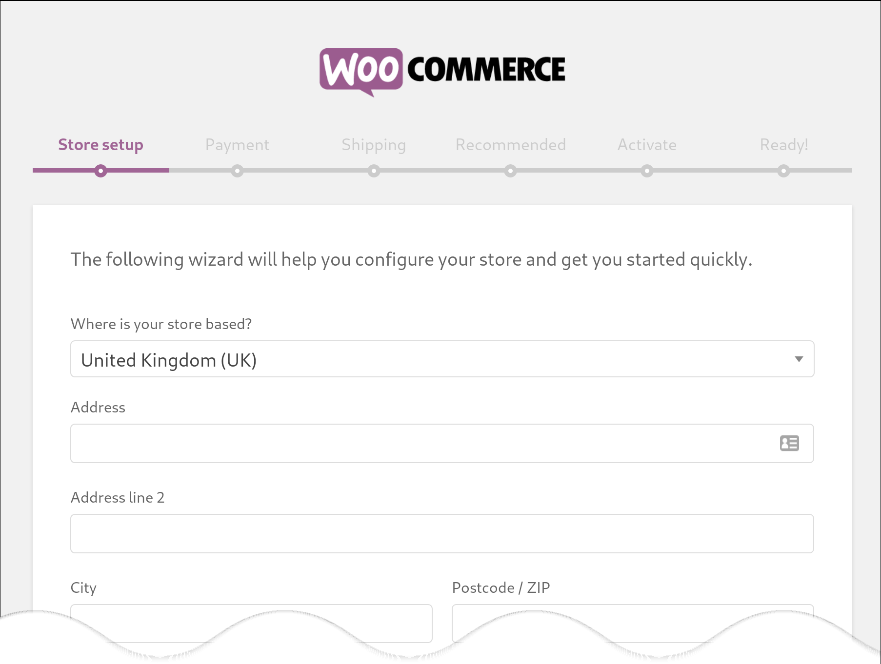 WooCommerce activation process